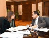 الدكتورة هالة السعيد وزيرة التخطيط مع الدكتور صالح عبد الرحمن رئيس الجهاز المركزي للتنظيم