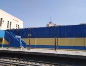 اضاءة محطة مترو ام المصريين فى النهار