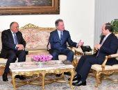 الرئيس عبد الفتاح السيسى مع ديفيد بيزلي المدير التنفيذي لبرنامج الغذاء العالمي