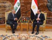 الرئيس السيسى ورئيس وزراء العراق عادل عبد المهدى