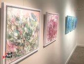 جانب من لوحات المعرض