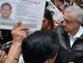 الرئيس المكسيكى يتحدث لاقارب المفقودين