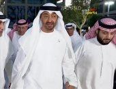 """الشيخ محمد بن زايد ولى عهد أبوظبى يصل إلى ملعب """"هزاع بن زايد"""""""