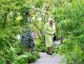 الملكة إليزابيث ملكة بريطانيا فى معرض تشيلسى للزهور