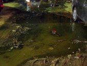 مياه الصرف تحاصر 3 شوارع بمنطقة الأندلس بالهرم