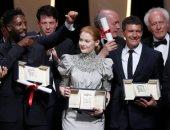 تسليم الجوائز فى مهرجان كان السينمائى