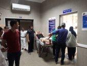 أحد المصابين فى سقوط شرفة عقار بالإسكندرية