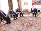 الرئيس عبد الفتاح السيسى يستقبل الشيخ عبد الله بن زايد وزير الخارجية الإمارات