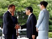 الرئيس الفرنسى وزوجته يلتقيان الامبراطور اليابانى