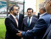 الشيخ فاهم القاسمى خلال افتتاح أسبوع الشارقة في سانت بطرسبرغ