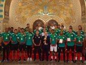 استقبال الرئيس الجزائرى لابطال امم افريقيا