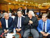 الدكتور على المصيلحى وزير التموين فى عزاء أرملة الراحل إبراهيم سعدة