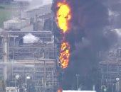 حريق مصفاة النفط