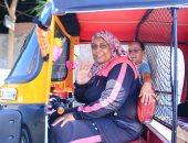 سيدة تقود توكتوك