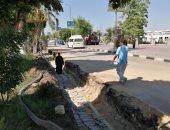 تجديد كورنيش النيل بالأقصر وتركيب كابلات كهرباء أرضية