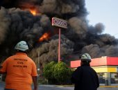 حريق ضخم يلتهم مستودع مواد كيماوية فى المكسيك