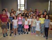 مشاركة الأطفال فى ورش رسم المجلس الأعلى للثقافة