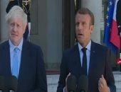 بوريس جونسون مع الرئيس الفرنسى