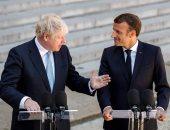ماكرون مع رئيس وزراء بريطانيا