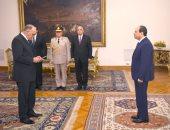 رئيس هيئة قضايا الدولة يؤدى اليمين القانونية امام الرئيس السيسي