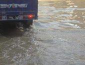 مياه الصرف فى شارع عمرو بن العاص