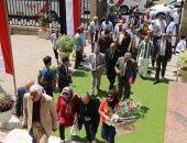 أبناء حزب الوفد يحضرون إلي ضريح سعد زغلول