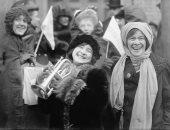 نساء يتظاهرن فى أمريكا للحصول على حق التصويت عام 1913
