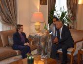 الأمين العام لجامعة الدول العربية أحمد أبو الغيط وتيريزا كريستينا وزيرة الزراعة البرازيلية