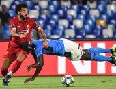 محمد صلاح فى مباراة ليفربول ونابولي
