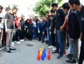 رئيس جامعة القاهرة يشارك الطلاب فى مهرجان الأنشطة