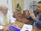 الدكتور محمد عبد المجيد رئيس لجنة المبيدات والزميل عز النوبى