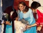 استقبال كيت ميدلتون بالزهور