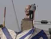 التمثال الجديد لمجدى يعقوب بأسوان