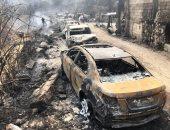 أثار حريق لبنان