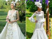 فساتين زفاف مصنوعة من ورق التواليت