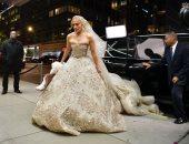 جينفر لوبيز بفستان زفاف من تصميم زهير مراد