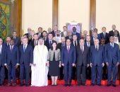 الرئيس عبد الفتاح السيسي مع رؤساء المحاكم الدستورية