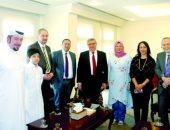 زيارة الوفد الإخوانى للسفارة التركية بالدوحة