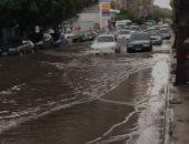 مياه الأمطار تغرق شوارع مصر الجديدة بالخليفة المأمون