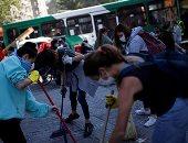 حملة نظافة فى شوارع سانتياغو