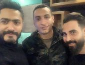 تامر حسنى والموزع الموسيقى أحمد عاطف