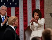 نانسى بيلوسى رئيسة مجلس النواب الأمريكى وترامب