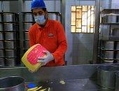 مراحل صناعة الجبن الرومى