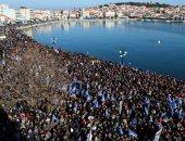 مظاهرات فى اليونان