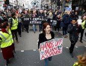 مسيرة وسط لندن ترفض تسليم أسانج لأمريكا