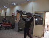 جانب من التجهيزات النهائية لمقر السجل المدنى الجديد بمدينة إسنا