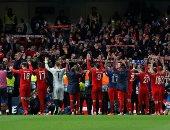 فريق بايرن ميونخ بعد الفوز