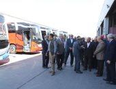 وزير النقل يتابع اتوبيسات نقل الركاب