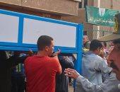 أهالى قرية ساقية أبو شعرة أثناء تشييع الجثامين