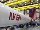 شعار ناسا على صاروخ فالكون 9